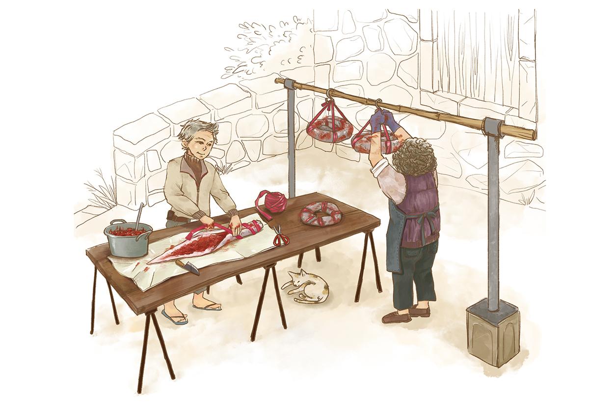 馬祖傳統美食_封鰻_插畫/Ruth Yeh